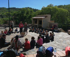 Débrief et goûter des Louvetin-e-s du week-end EEDF à Villerach Mai 2019